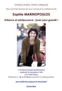 Enfance et adolescence : jouer pour grandir ! @ Institut Français de Marrakech